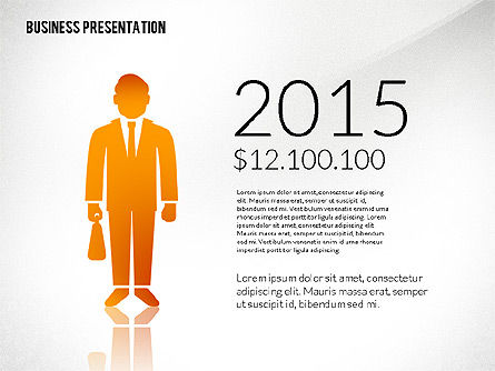 Presentation Templates: Presentation with Flat Shapes and Silhouettes #02562