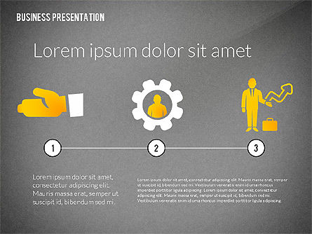 Presentation with Flat Shapes and Silhouettes, Slide 10, 02562, Presentation Templates — PoweredTemplate.com