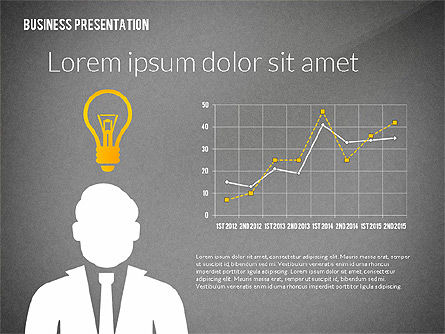 Presentation with Flat Shapes and Silhouettes, Slide 12, 02562, Presentation Templates — PoweredTemplate.com