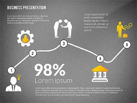 Presentation with Flat Shapes and Silhouettes, Slide 13, 02562, Presentation Templates — PoweredTemplate.com