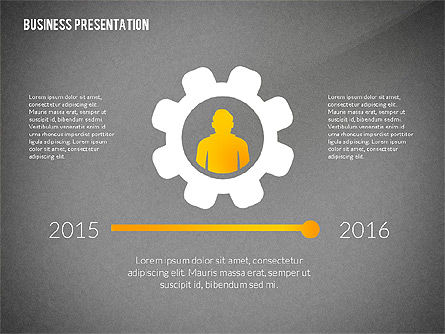 Presentation with Flat Shapes and Silhouettes, Slide 14, 02562, Presentation Templates — PoweredTemplate.com