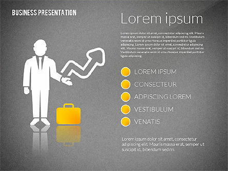 Presentation with Flat Shapes and Silhouettes, Slide 15, 02562, Presentation Templates — PoweredTemplate.com