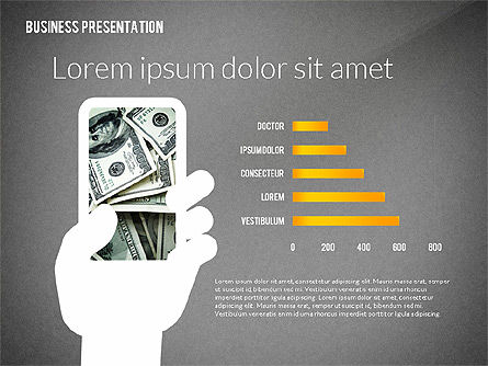 Presentation with Flat Shapes and Silhouettes, Slide 16, 02562, Presentation Templates — PoweredTemplate.com
