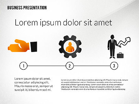 Presentation with Flat Shapes and Silhouettes, Slide 2, 02562, Presentation Templates — PoweredTemplate.com