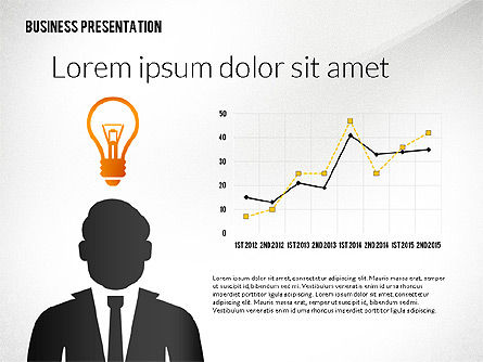 Presentation with Flat Shapes and Silhouettes, Slide 4, 02562, Presentation Templates — PoweredTemplate.com