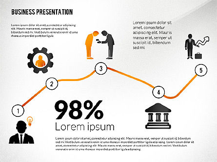 Presentation with Flat Shapes and Silhouettes, Slide 5, 02562, Presentation Templates — PoweredTemplate.com