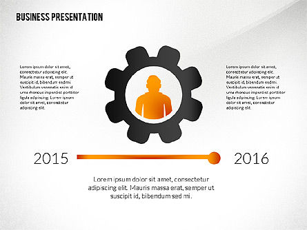 Presentation with Flat Shapes and Silhouettes, Slide 6, 02562, Presentation Templates — PoweredTemplate.com