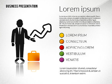 Presentation with Flat Shapes and Silhouettes, Slide 7, 02562, Presentation Templates — PoweredTemplate.com