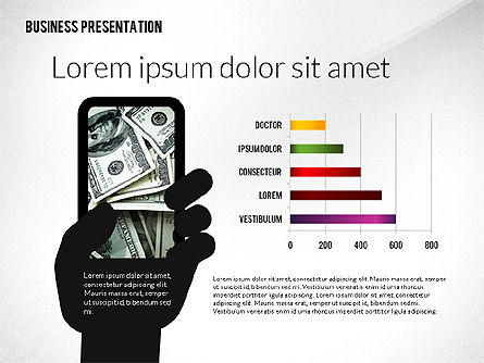 Presentation with Flat Shapes and Silhouettes, Slide 8, 02562, Presentation Templates — PoweredTemplate.com