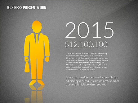 Presentation with Flat Shapes and Silhouettes, Slide 9, 02562, Presentation Templates — PoweredTemplate.com