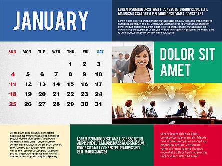 Calendar Presentation Template, 02563, Timelines & Calendars — PoweredTemplate.com