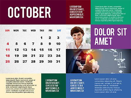 Calendar Presentation Template, Slide 10, 02563, Timelines & Calendars — PoweredTemplate.com
