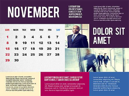 Calendar Presentation Template, Slide 11, 02563, Timelines & Calendars — PoweredTemplate.com