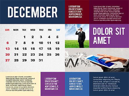 Calendar Presentation Template, Slide 12, 02563, Timelines & Calendars — PoweredTemplate.com