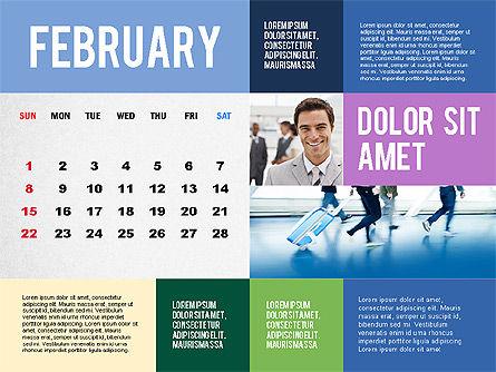 Calendar Presentation Template, Slide 2, 02563, Timelines & Calendars — PoweredTemplate.com