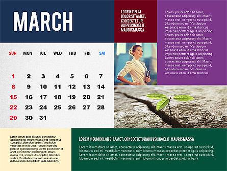 Calendar Presentation Template, Slide 3, 02563, Timelines & Calendars — PoweredTemplate.com
