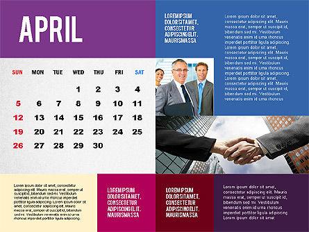 Calendar Presentation Template, Slide 4, 02563, Timelines & Calendars — PoweredTemplate.com