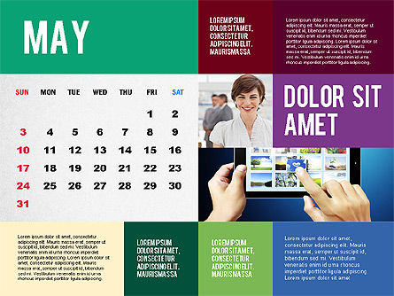 Calendar Presentation Template, Slide 5, 02563, Timelines & Calendars — PoweredTemplate.com