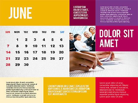 Calendar Presentation Template, Slide 6, 02563, Timelines & Calendars — PoweredTemplate.com