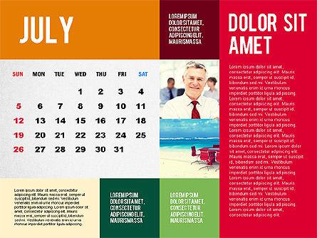 Calendar Presentation Template, Slide 7, 02563, Timelines & Calendars — PoweredTemplate.com