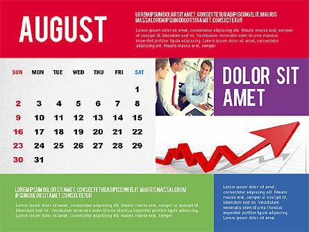 Calendar Presentation Template, Slide 8, 02563, Timelines & Calendars — PoweredTemplate.com
