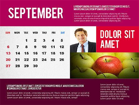 Calendar Presentation Template, Slide 9, 02563, Timelines & Calendars — PoweredTemplate.com