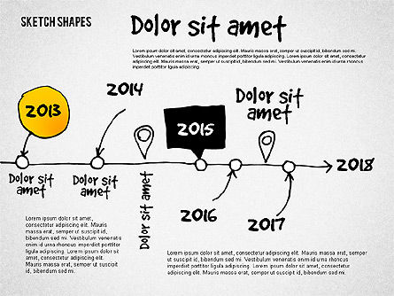 Presentation with Doodle Shapes, Slide 2, 02565, Presentation Templates — PoweredTemplate.com