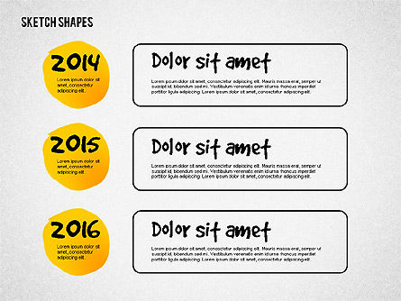 Presentation with Doodle Shapes, Slide 3, 02565, Presentation Templates — PoweredTemplate.com