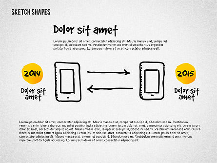 Presentation with Doodle Shapes, Slide 4, 02565, Presentation Templates — PoweredTemplate.com