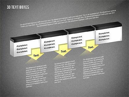 3D Process Text Boxes, Slide 11, 02569, Text Boxes — PoweredTemplate.com