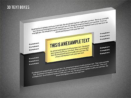 3D Process Text Boxes, Slide 13, 02569, Text Boxes — PoweredTemplate.com