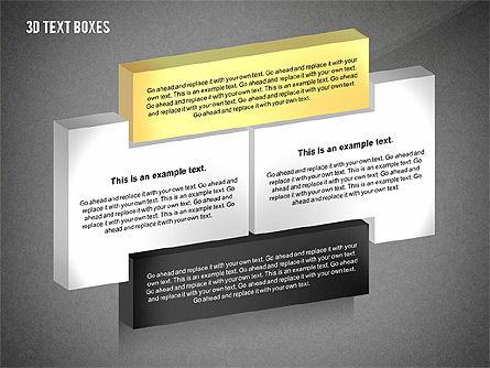 3D Process Text Boxes, Slide 14, 02569, Text Boxes — PoweredTemplate.com