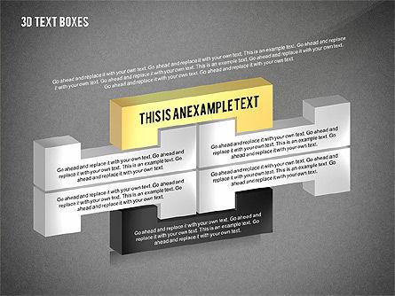 3D Process Text Boxes, Slide 15, 02569, Text Boxes — PoweredTemplate.com