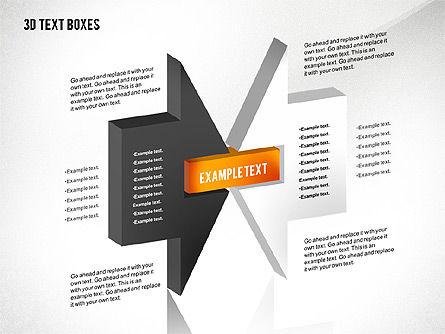 3D Process Text Boxes, Slide 2, 02569, Text Boxes — PoweredTemplate.com