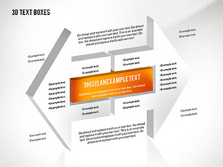 3D Process Text Boxes, Slide 4, 02569, Text Boxes — PoweredTemplate.com
