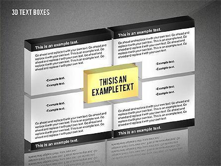 3D Process Text Boxes, Slide 9, 02569, Text Boxes — PoweredTemplate.com