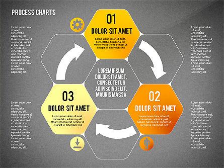 Process Charts Collection, Slide 10, 02570, Process Diagrams — PoweredTemplate.com