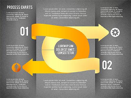 Process Charts Collection, Slide 12, 02570, Process Diagrams — PoweredTemplate.com