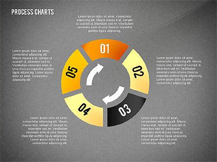 Process Charts Collection, Slide 13, 02570, Process Diagrams — PoweredTemplate.com
