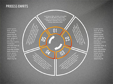 Process Charts Collection, Slide 14, 02570, Process Diagrams — PoweredTemplate.com