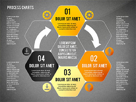 Process Charts Collection, Slide 16, 02570, Process Diagrams — PoweredTemplate.com