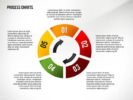 Process Charts Collection, Slide 5, 02570, Process Diagrams — PoweredTemplate.com