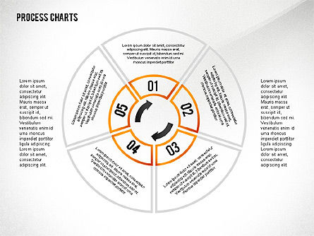 Process Charts Collection, Slide 6, 02570, Process Diagrams — PoweredTemplate.com