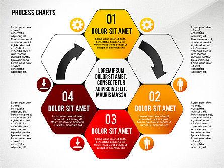 Process Charts Collection, Slide 8, 02570, Process Diagrams — PoweredTemplate.com