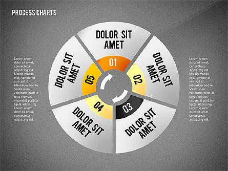 Process Charts Collection, Slide 9, 02570, Process Diagrams — PoweredTemplate.com