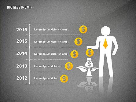Business Growth with Stickman, Slide 10, 02572, Business Models — PoweredTemplate.com