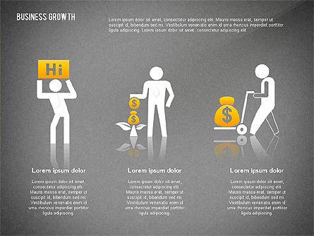 Business Growth with Stickman, Slide 11, 02572, Business Models — PoweredTemplate.com