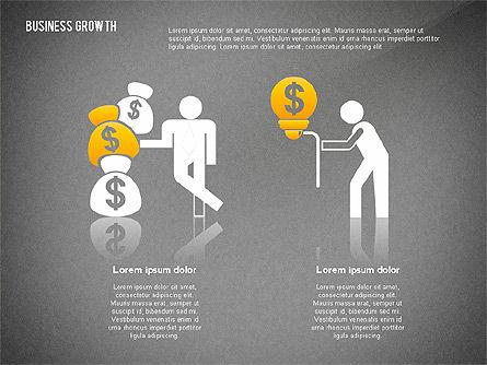 Business Growth with Stickman, Slide 13, 02572, Business Models — PoweredTemplate.com
