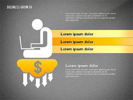 Business Growth with Stickman, Slide 15, 02572, Business Models — PoweredTemplate.com