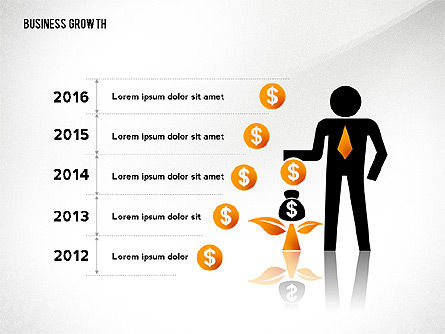 Business Growth with Stickman, Slide 2, 02572, Business Models — PoweredTemplate.com